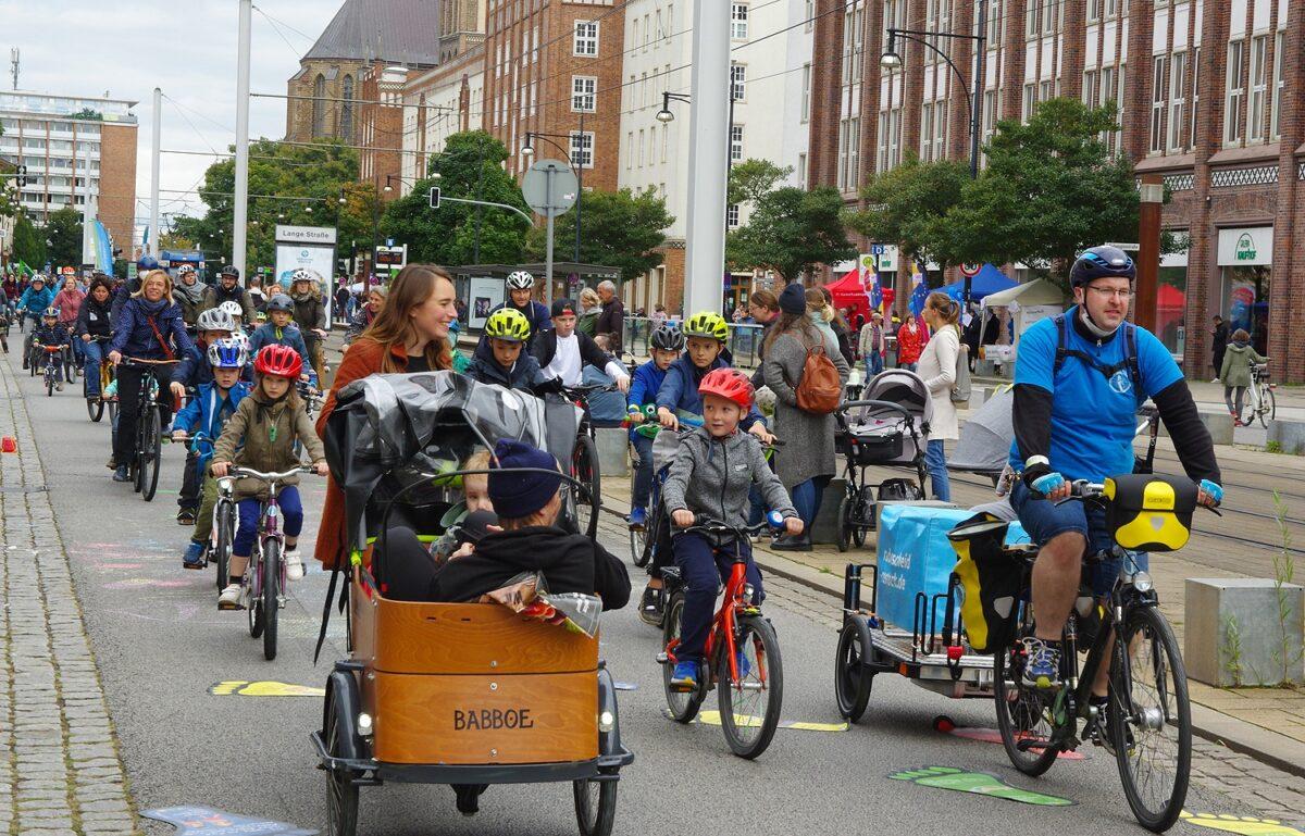 Eindruck von der Kidical Mass-Radtour